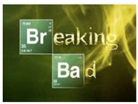BREAKING BAD Logo on TV screen