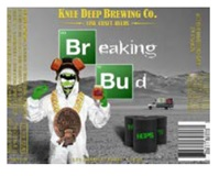 BREAKING BUD Logo on beer label