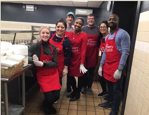 CLL Staff Volunteers at the Bowery Mission