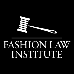 Graphic of gavel with words FASHION LAW INSTITUTE