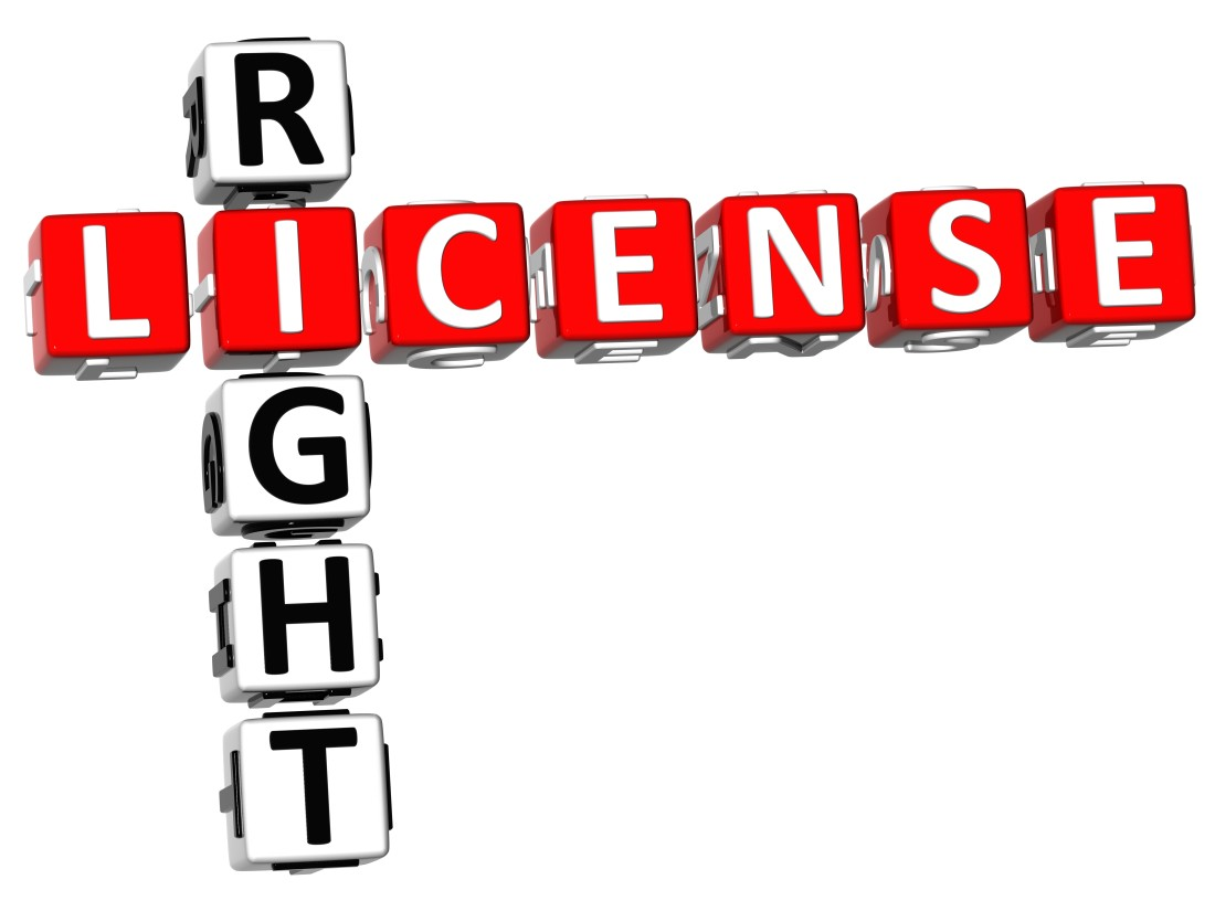 """License Right"" in crossword puzzle format"