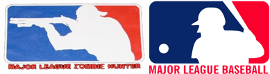Infringing Image and Major League Baseball Silhoutted Batter Logo