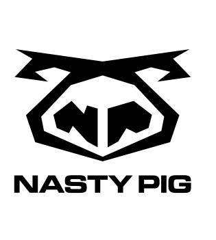 NASTY PIG below stylized pig face