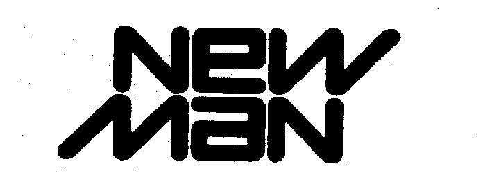 "The words ""New Man"" in stylized format"
