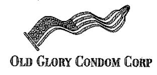 "Image of logo for ""Old Glory Condom Corp"""