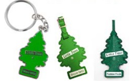 Three examples of authorized LITTLE TREES keyrings