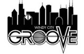 WINDY CITY GROOVE below a Chicago city silhouette