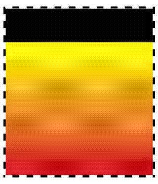 Yellow to red vertically descending gradient