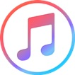 iTunes Logo:  Musical notes inside a circle